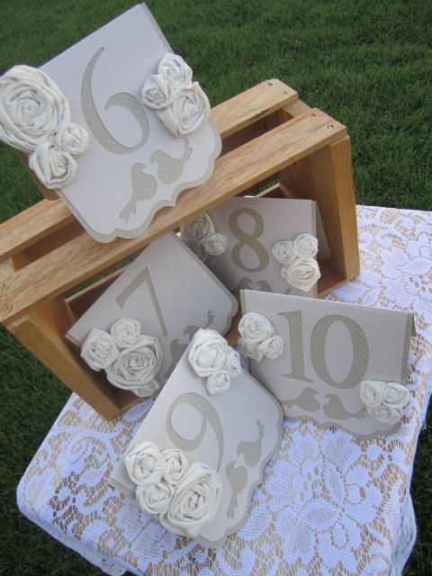 Use these lovely table numbers to add a romantic vintage chic touch to your special celebration!