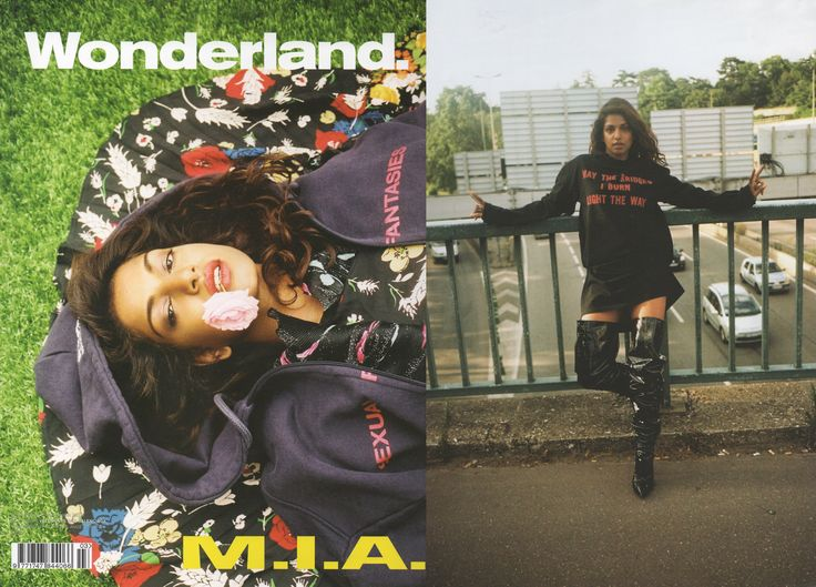 VETEMENTS FEATURED IN WONDERLAND AUTUMN 2016 ISSUE. M.I.A. SHOT BY  PIERRE-ANGE CARLOTTI. STYLED BY NICO TORELLI.