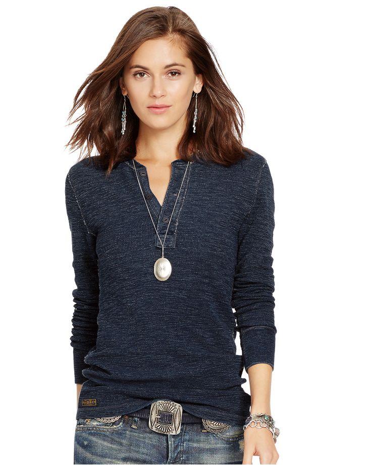 Long-Sleeved Henley Shirt - Long-Sleeve Tops & Polos - RalphLauren.com