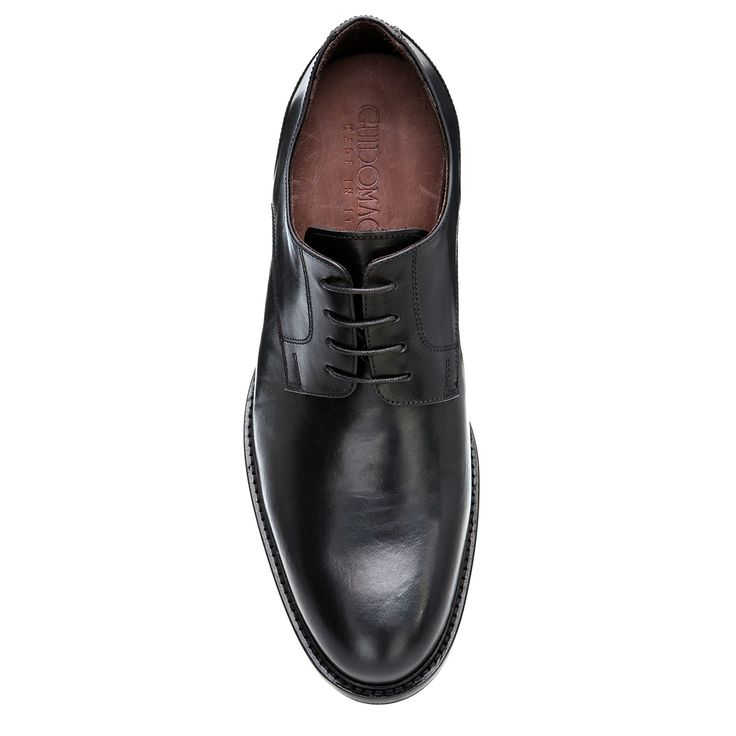 Elevator Dress shoes : Pisa (Black), in full grain leather and full soft leather lining, insole and midsole in genuine leather. Get them now on www.guidomaggi.com/us