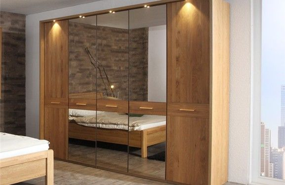 Modern Wardrobes » Stylform CHLOE - Hinged Door Solid Oak Wardrobe » Stylform CHLOE - Hinged Door Solid Oak Wardrobe - Head2Bed UK
