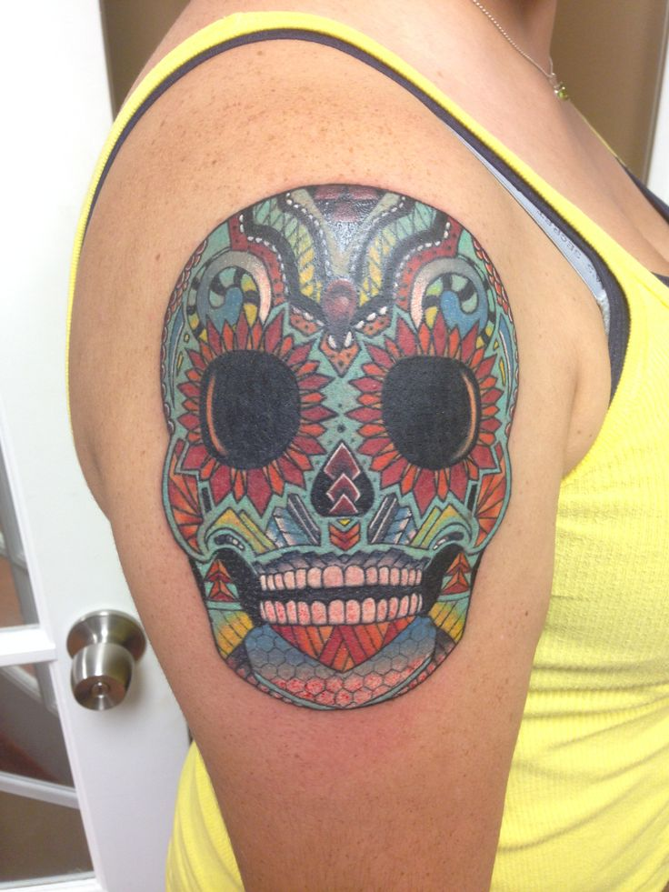 17 best images about body art on pinterest sugar skull for Mexican heritage tattoos