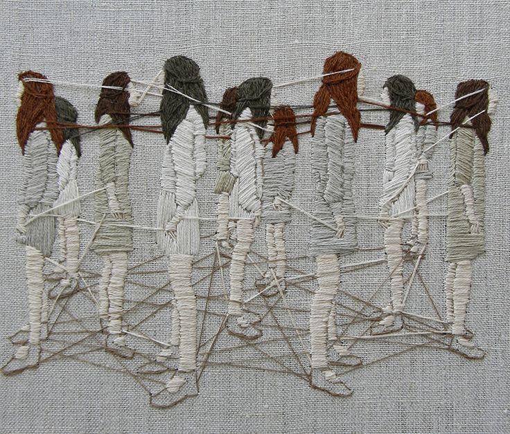 Talented LA-based artist Michelle Kingdom uses thread like paint in her incredible embroidered artworks that depict very strange but beautiful unusual scenes. With dense layers of colours and textures,...