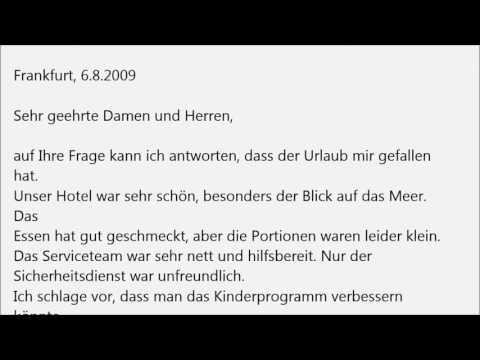 Deutsch Lernen B1 Prüfung Brief übungen Youtube немецкий язык