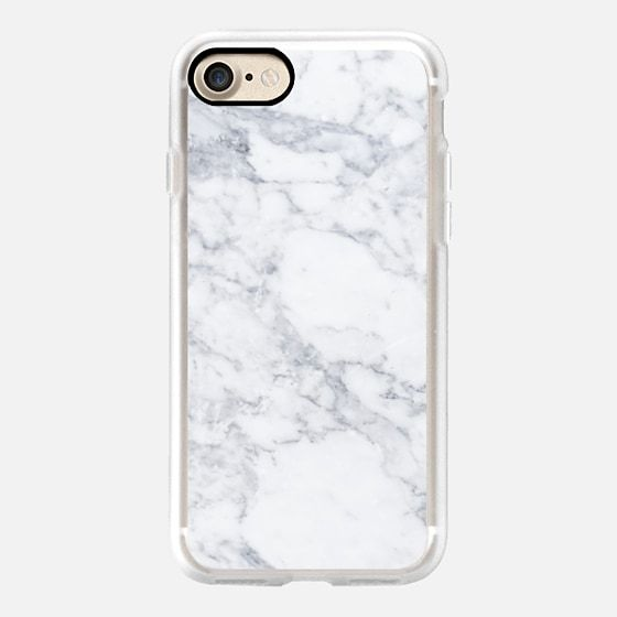 Classic Grip iPhone 7 Case – Marble white