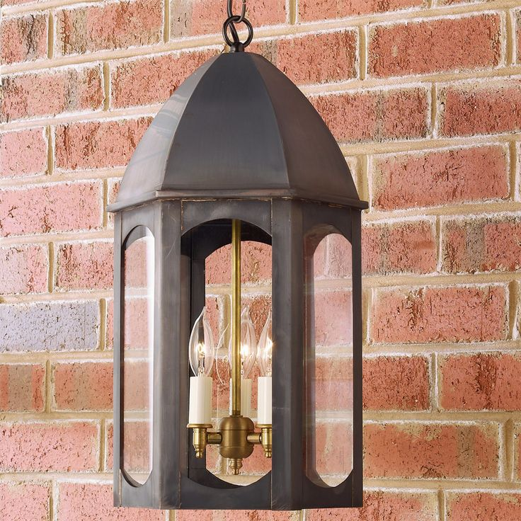 Florence Outdoor Hanging Lantern darkened_copper_with_clear_glass