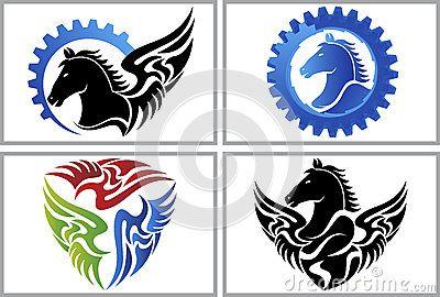 Fly horse logo