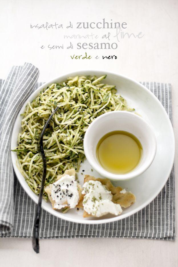 - VANIGLIA - storie di cucina: Insalata di zucchine marinate al lime e semi di sesamo verde e nero