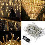 sparen25.info , sparen25.com#7: LEORX 216 LED Eiszapfen Lichterkette zum Neujahren Decoration, 8 Modi, für Drinnen und Draussen,…sparen25.de