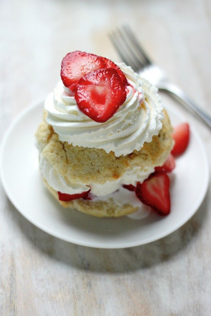 Quick and Easy Strawberry Shortcake for Two! http://bakerbynature.com/quick-easy-strawberry-shortcake-two/