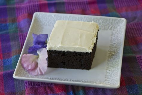 Screwball Cake (has cider vinegar, cocoa, and coffee in it; gluten free)