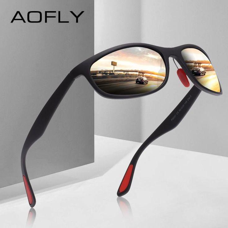 Aofly brand design polarized sunglasses men women driving