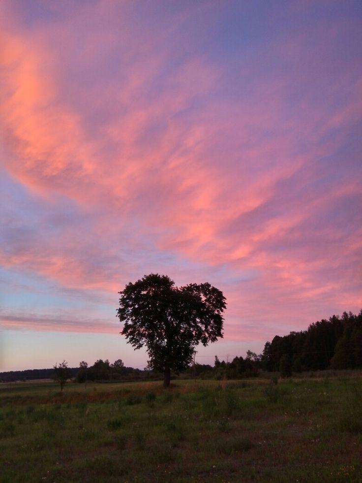 Klusy, Mazury, Polska Zachód słońca