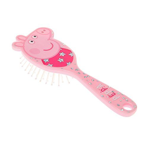 Peppapig Girls and Womens Pink Hairbrush in Pink