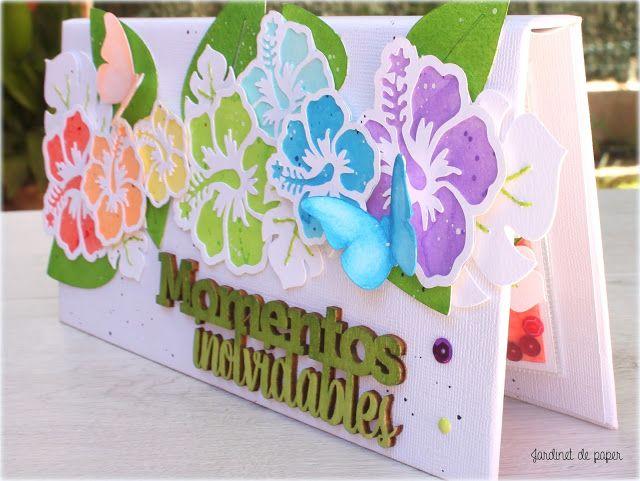 Jardinet de paper Scrapbooking: Mini álbum arcoíris