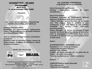 Sortez ! - CONCERT - PIERRE SCHAEFFER 20 ANS @ Marie du 2 - Paris, 70002