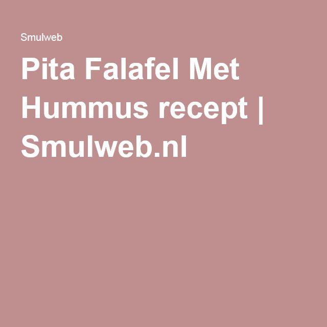 Pita Falafel Met Hummus recept | Smulweb.nl