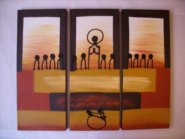 preciosa pintura sobre la ultima cena de Jesús