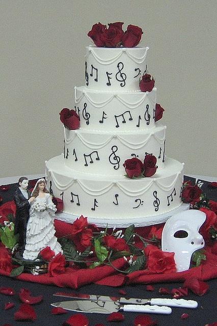 Phantom of the Opera Wedding Cake by Graceful Cake Creations, via Flickr