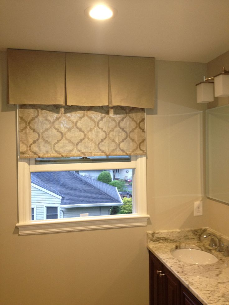 shades bathroom cabinets diy roller shade and box valance oh so pretty 25964