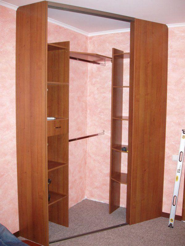 как самому сделать угловой шкаф