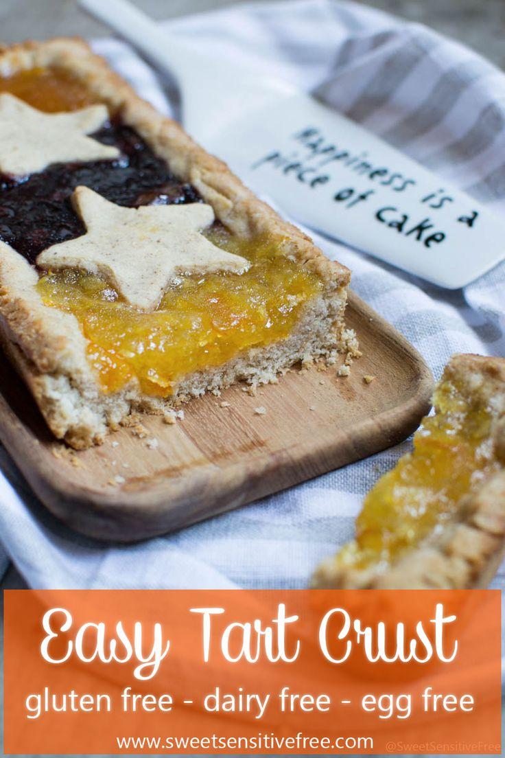 Easy gluten free vegan tart crust recipe to bake your favourite jam filled tart pie! --- Ricetta per pasta frolla senza glutine/burro/uova per sfornare la vostra crostata di marmellata preferita! --- #glutenfree #tart #crust #vegan #frolla #senzaglutine