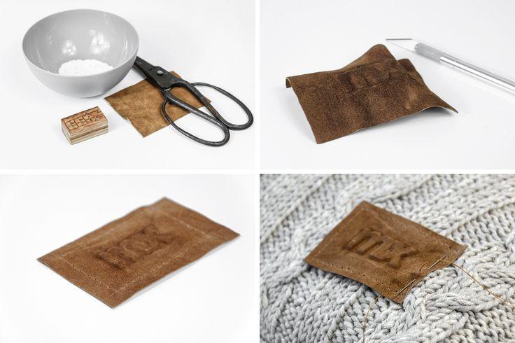 DIY | geprägtes Lederetikett für meine Kissenhülle