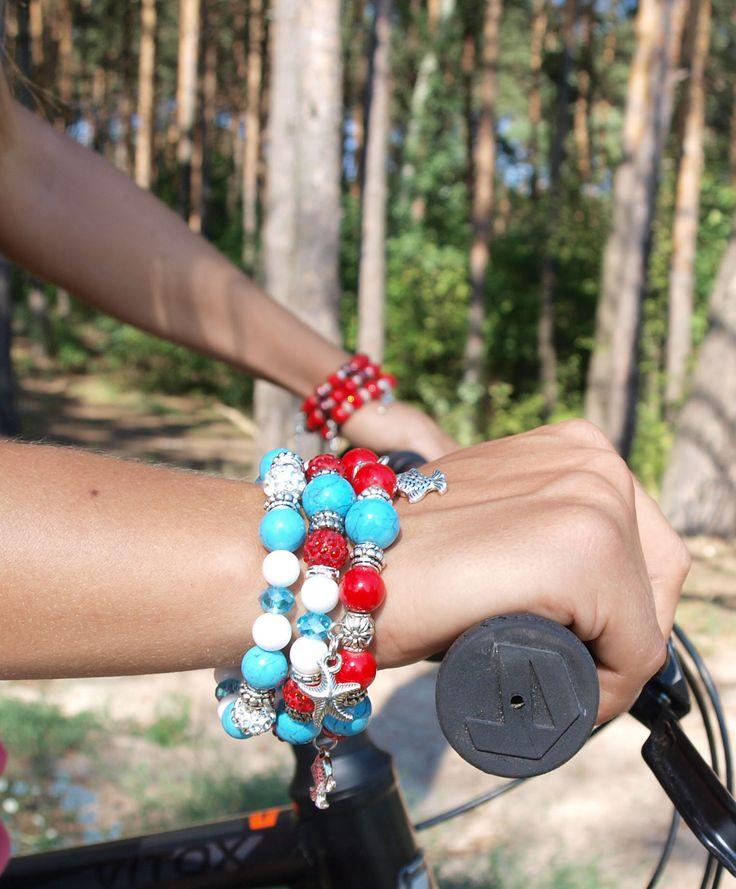 Сет браслетов из натурального камня, мода сегодняшнего дня. http://stefi.com.ua/