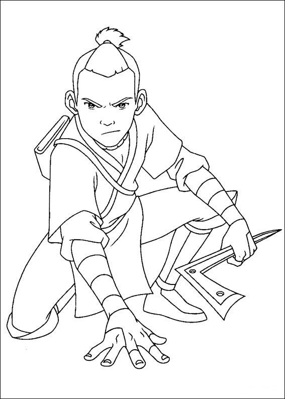 avatar the last airbender soka was staring sardonically avatar the last airbendercoloring book