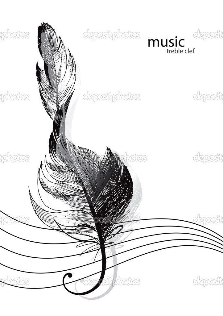 depositphotos_8778176-Treble-clef-in-the-form-of-the-bird.jpg (723×1024)