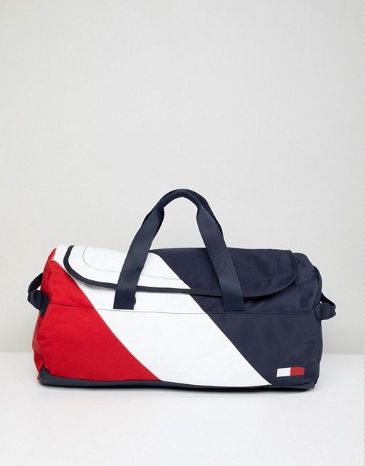 622009dd099 Tommy Hilfiger Speed Duffle Bag Icon Colors in Navy/White/Red | asos men |  Bag icon, Bags, Tommy hilfiger