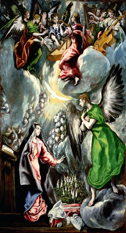 The Annunciation by El Greco, n.d  #art #painting
