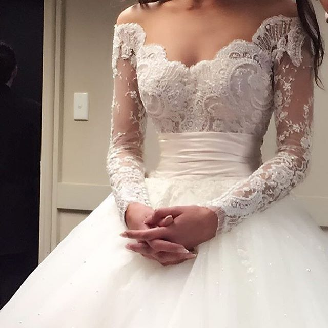 I love the style of this dress,but I would probably change the lace ; )
