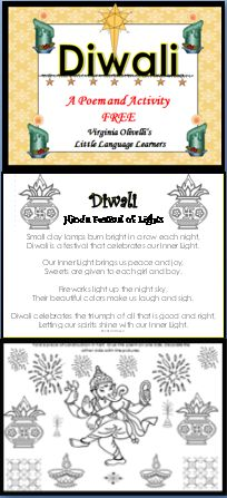 Teach your students about the Hindu Festival of Light--Diwali. There is a poem and an activity.