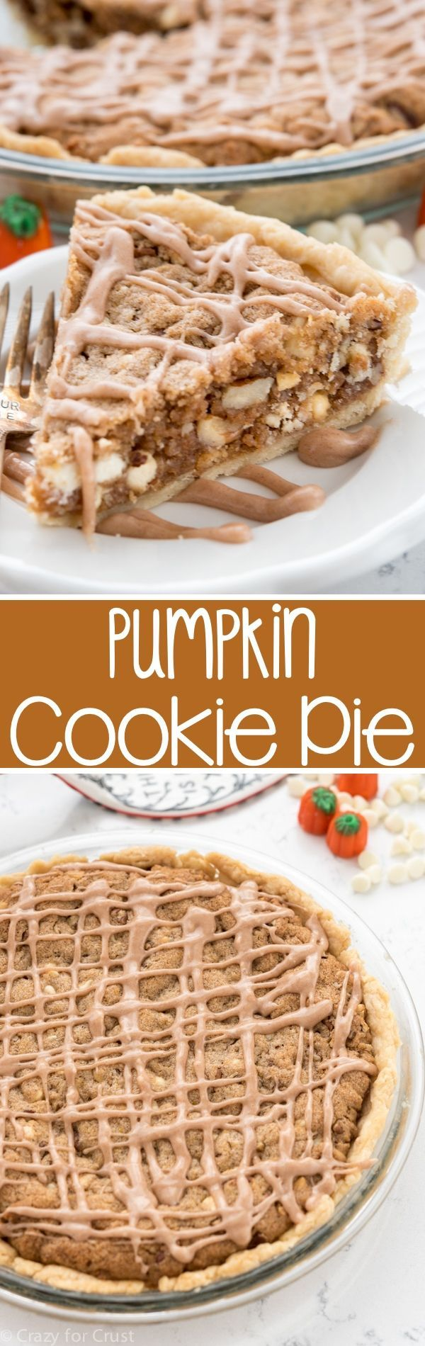 This easy Pumpkin Cookie Pie recipe comes together in just minutes. It's perfect for Thanksgiving!