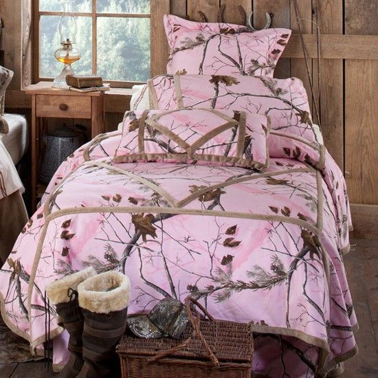 Then I Can Wear My Matching Hoodie And No One Can Find Me Pink Realtree Camo  Bedding