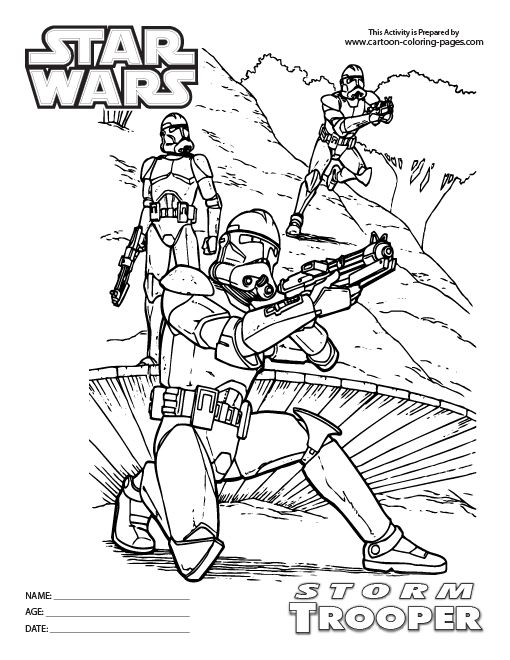 Stormtrooper Coloring Page | Coloring pages