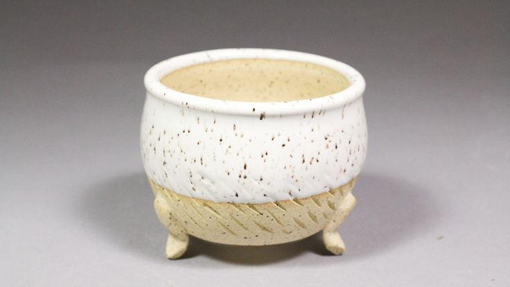 """3.75"""" Mini Orchid Pot with Feet by Ashley Keller"""