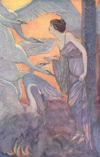 """Eleanore Abbott's Grimm's Fairytales, """"The Seven Swans"""" (sometimes """"The Six Swans"""")"""