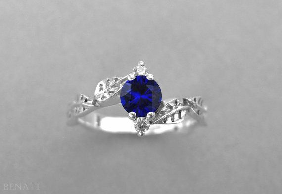 Exclusive to Benati. Brand new!  Amaze her with your fine taste - for the finest things in life!  Natural, floral and unique engagement ring - this is our