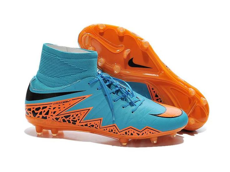 2015 Nike Hypervenom Phantom II FG Football Boots - Blue/Total/Orange