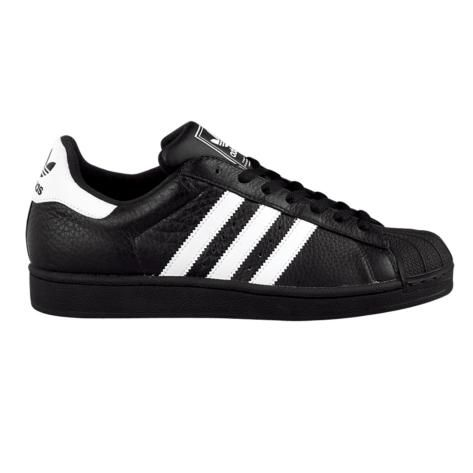 Mens adidas Superstar II Athletic Shoe in Black White at Journeys Shoes.