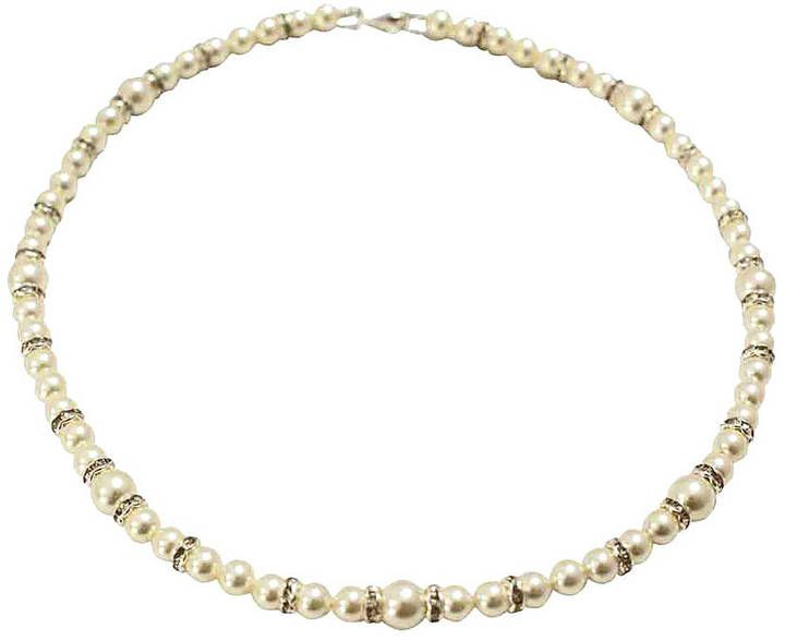 Tantrums and Tiaras Pristine Pearl And Diamante Bridal Necklace