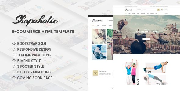 Shopaholic - Responsive Multipurpose eCommerce HTML5 Template
