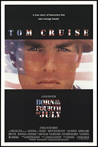 """Born on the Fourth Of July 1989 ORIGINAL MOVIE POSTER Biography Drama War - Dimensions: 27"""" x 41"""""""