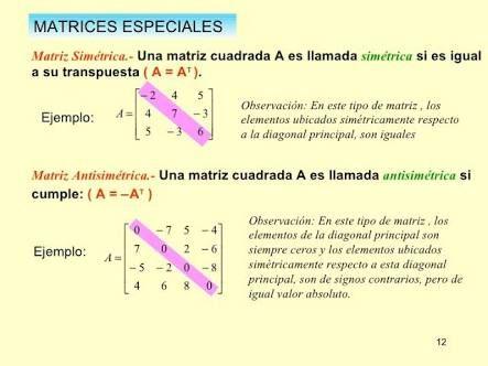 Resultado de imagen para matriz simetrica