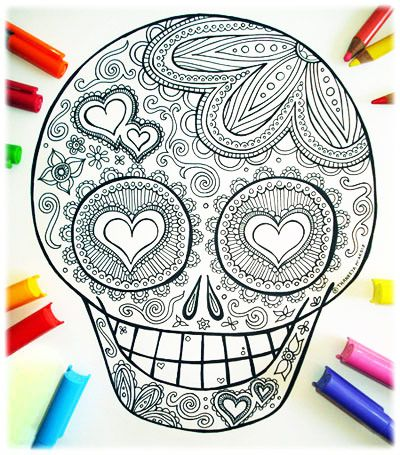 sugar skull coloring pages - Fun Coloring Pages To Print