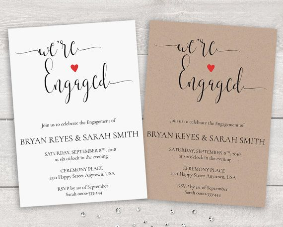 58 best Printable Wedding Invitations and Stationery images on - engagement invitation templates free printable