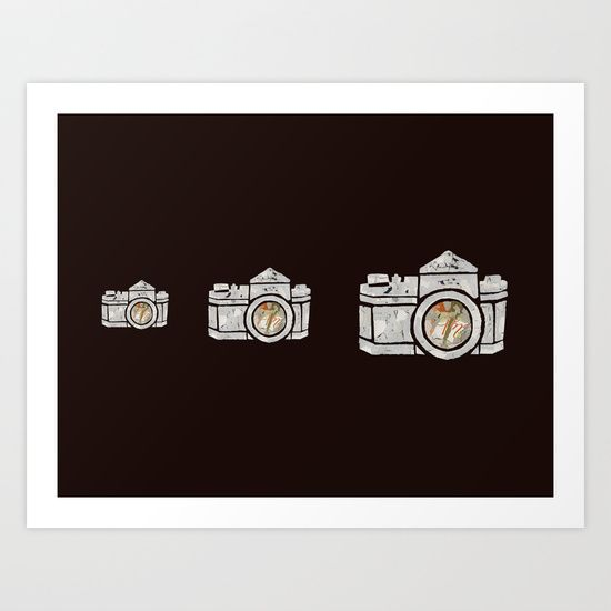 White Camera Art Print by Shihotana