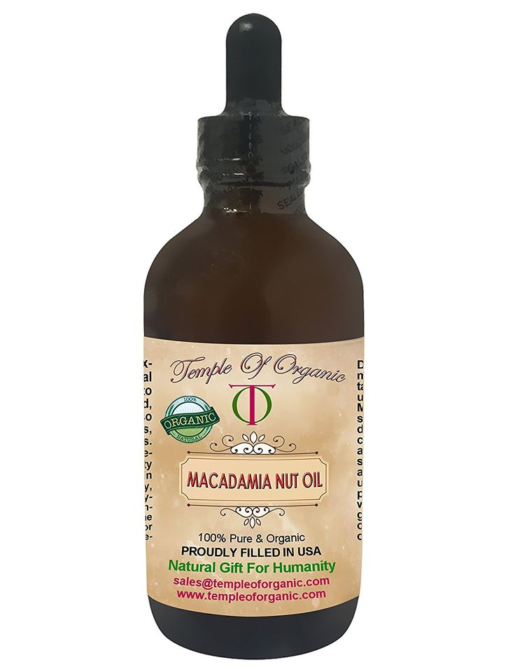 Organic Macadamia Nut Oil 4 oz 100% Pure Raw Unrefined Cold Pressed Pharmaceutical Top Grade A Has Macadamia Odor Rich Antioxidant Rejuvenate Moisturize Body Skin Eyes Face Nails By Temple Of Organic *** Read more reviews of the product by visiting the link on the image. (This is an Amazon Affiliate link)